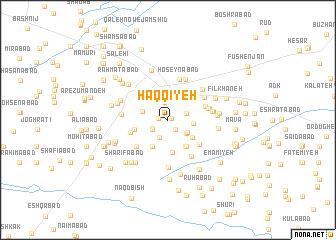 map of Ḩaqqīyeh