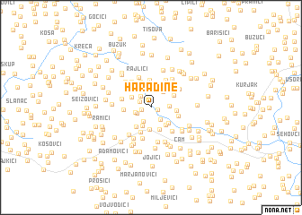 map of Haradine