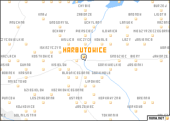 map of Harbutowice