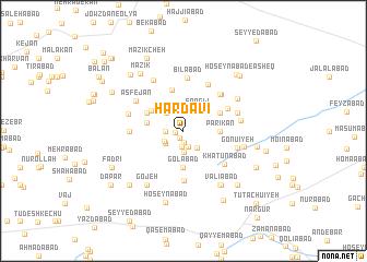 map of Ḩardavī