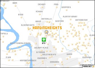 map of Harding Heights