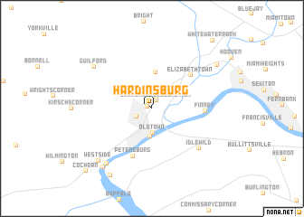 map of Hardinsburg