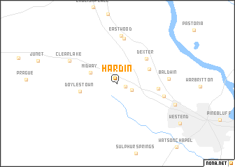 map of Hardin
