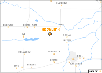 map of Hardwick