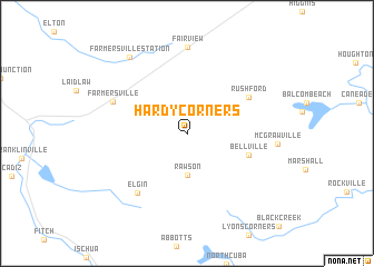 map of Hardy Corners