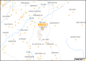 map of Hardy