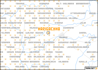 map of Hārigāchha