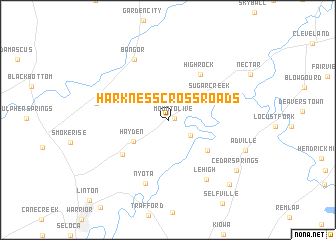 map of Harkness Crossroads