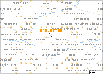 map of Harlettes