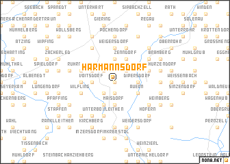 map of Harmannsdorf
