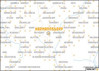 map of Harmannsdorf