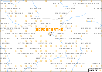map of Harrachsthal