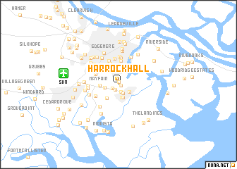 map of Harrock Hall