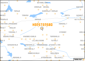 map of Harstensbo