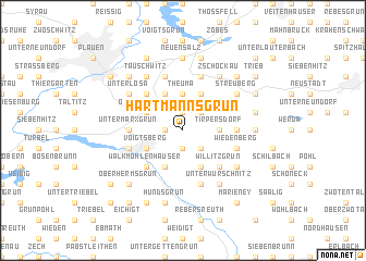 map of Hartmannsgrün