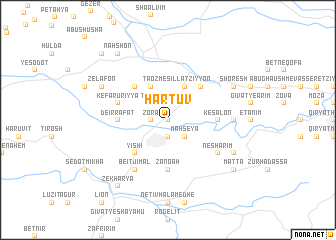 map of Hartuv