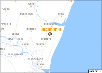 map of Haruguchi