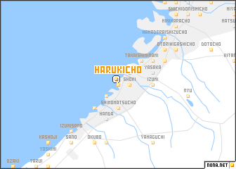 map of Harukichō