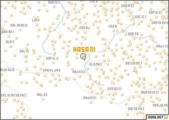 map of Hašani