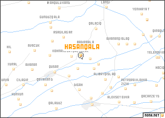 map of Hǝsǝnqala