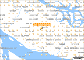 map of Hāsārgaon