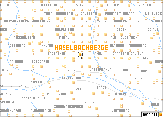 map of Haselbachberge