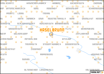 map of Haselbrunn