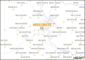 map of Hasenburg