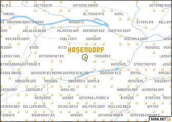 map of Hasendorf