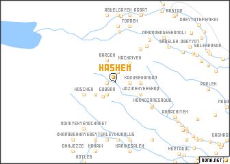 map of Hāshem