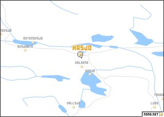 map of Håsjö