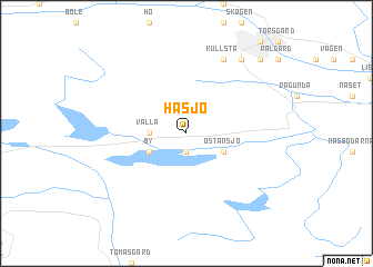 map of Håsjö