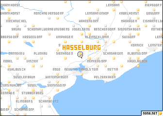 map of Hasselburg