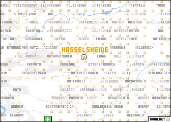 map of Hasselsheide