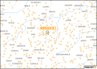 map of Hasukići