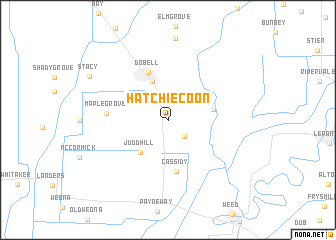map of Hatchie Coon