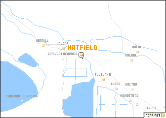 map of Hatfield