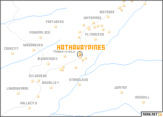 map of Hathaway Pines