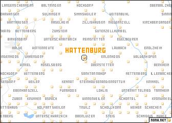 map of Hattenburg