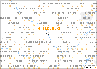 map of Hattersdorf