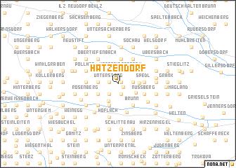 map of Hatzendorf