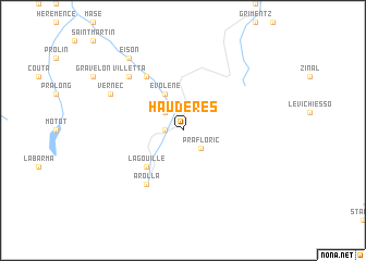 map of Haudères