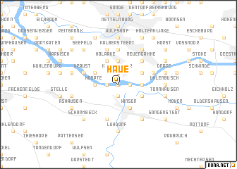 map of Haue