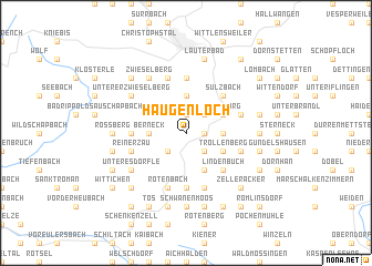 map of Haugenloch