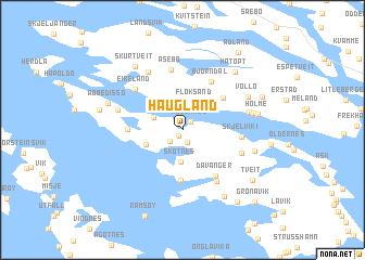 map of Haugland
