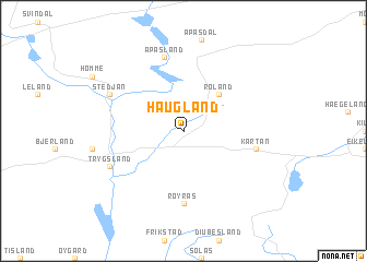 map of Haugland