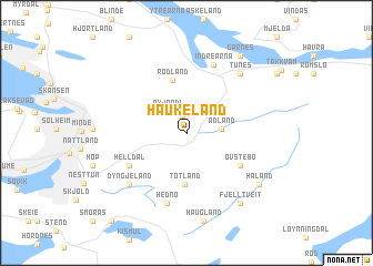 map of Haukeland