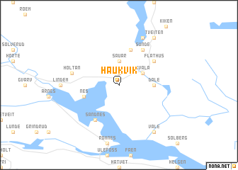 map of Haukvik