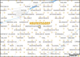 map of Haunersdorf
