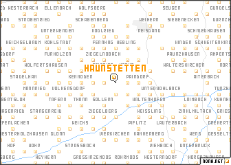 map of Haunstetten